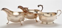 Lot 1038 - A pair of Elizabeth II sauce boats, by Roberts...