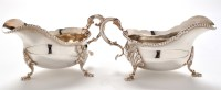Lot 1042 - A matched pair of Elizabeth II gravy boats, by...