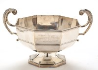 Lot 1046 - A George V two-handled presentation bowl, by...