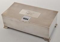 Lot 1054 - A George VI cigarette box, by Mappin & Webb,...