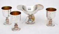 Lot 1056 - Three Elizabeth III goblets, by Reid & Sons...