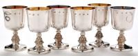 Lot 1058 - A set of six Elizabeth II goblets, by Reid &...