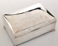 Lot 1062 - A George V silver cigar box, by Charles S....