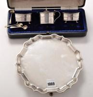 Lot 1069 - An Elizabeth II waiter, by C.J. Vander Ltd.,...