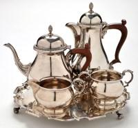 Lot 1071 - An Elizabeth II four piece silver tea service,...