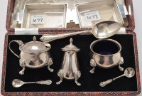 Lot 1073 - A pair of George VI butter dishes, by Walker &...