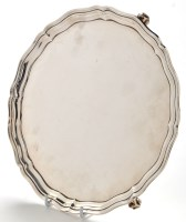 Lot 1076 - A George V salver, by S. Blanckensee & Sons...