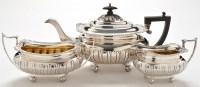 Lot 1077 - A George V three piece tea service, by J...