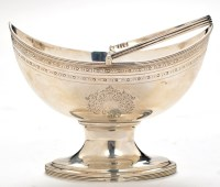 Lot 1078 - A George III sugar basket, by Alexander Field,...