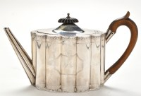 Lot 1079 - A George III teapot, by Henry Chawner, London...
