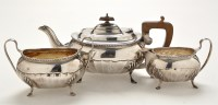 Lot 1081 - A George V three piece tea service, by Cooper...