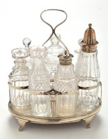Lot 1086 - A George III cruet stand, probably by Duncan...