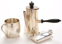 Lot 1106 - An Edwardian cafe-au-lait pot, by Walker &...