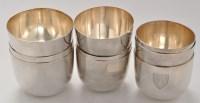 Lot 1112 - Nine tumbler cups, various London dates and...