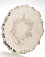 Lot 1114 - A Victorian salver, by Fenton Bros. (Frank and...