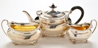 Lot 1115 - An Edwardian three-piece tea service, by Atkin...