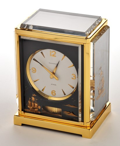 Lot 1373-Jaeger LeCoultre Atmos 'Marina': a lacquered...