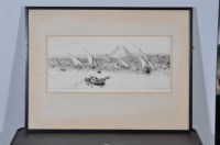 Lot 44 - William Lionel Wyllie (1851-1931) A view of...
