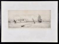 Lot 45 - William Lionel Wyllie (1851-1931) An estuary...
