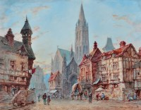 Lot 47 - Pierre Le Boeuff (fl.1899-1920) ''Domfront,...