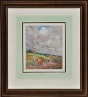 Lot 68 - Frank Reynolds, RI (1876-1953) ''Plough in...