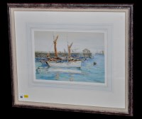 Lot 93 - John William Gilroy Fishing boats in harbour...