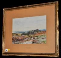 Lot 105 - Claude Hayes (1852-1922) ''Near Lyme Regis''...