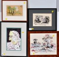 Lot 116 - Antoni Sulek (1951-1988) Landscape and...
