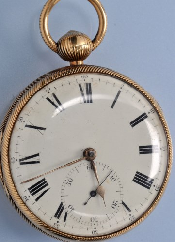 Lot 572 - A George IV 18ct. gold gentleman's open faced...