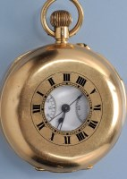 Lot 593 - A George V 18ct. gold minute repeating crown...