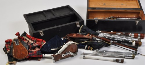 Lot 789 - A collection of Northumbrian small pipes;...