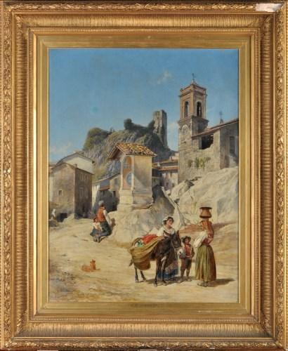 Lot 213-Charles H*** Poingdestre (1825-1905) AN ITALIAN...