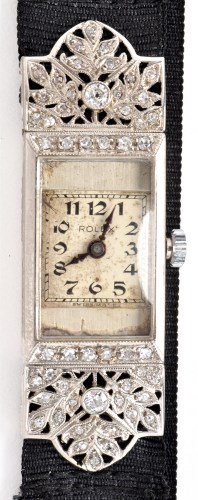 Lot 689-An early 20th Century diamond set Rolex...