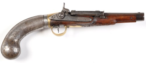 Lot 1071-A Girondoni style .42R air pistol, by Echad, 19th ...
