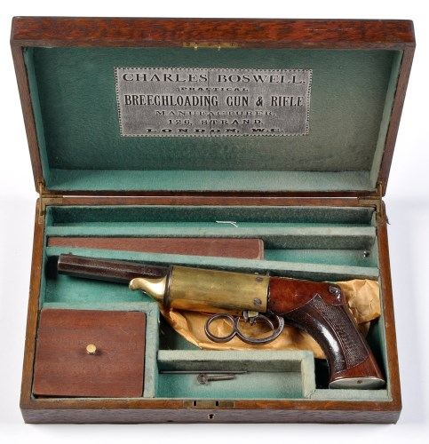 Lot 1103-A mid 19th Century .274cal. Gallery air pistol,...