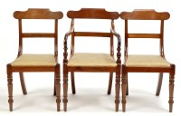 Lot 1270-A set of eight Regency mahogany dining chairs,...
