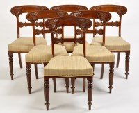 Lot 1274-A set of six Regency mahogany dining chairs, the...