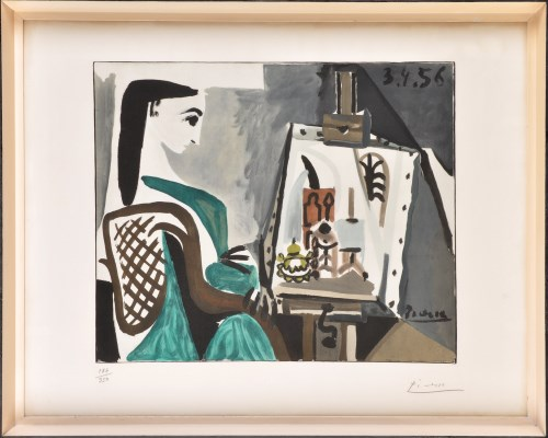 Lot 203-Pablo Picasso ''FEMME DANS L'ATALIER'' signed and ...