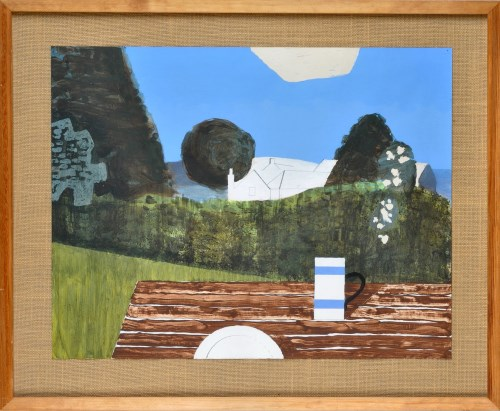 Lot 348-Kenneth Rowntree ''MORNING GARDEN'' gouache 50 x...