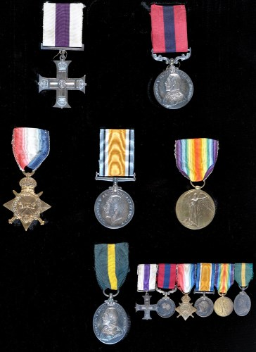 Lot 974-A First World War group of medals, awarded to 16...