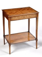 Lot 1034 - A George III inlaid satinwood side table, in...