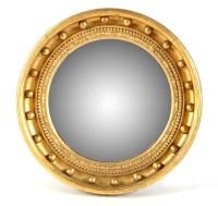 Lot 1057-A Regency giltwood convex wall mirror, the...