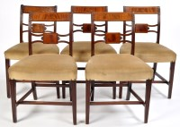 Lot 1086-A set of four late Regency mahogany dining chairs,...