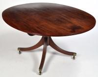 Lot 1107-A Regency mahogany breakfast table, the oval...