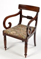 Lot 1114-A George III mahogany carver chair, the...