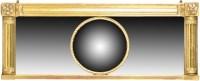 Lot 1133-A Regency rectangular giltwood overmantel mirror, ...
