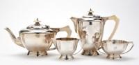 Lot 614 - A 1930's four-piece tea service, by H. Pidduck...