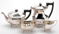 Lot 616 - An Elizabeth II four-piece tea service, by...