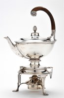 Lot 617 - A George V tea kettle on stand, by James Dixon...