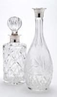 Lot 618 - An Elizabeth II cut glass and silver mounted...